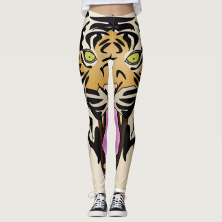 Leggings Guêtres féroces d'impression de tigre de