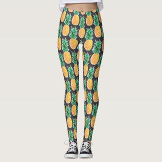 Leggings Guêtres géométriques tropicales d'ananas