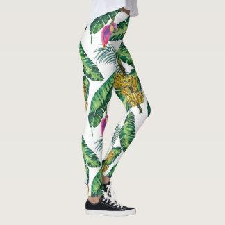Leggings Guêtres imprimées par banane pour des femmes