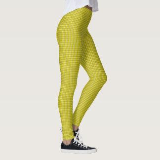 Leggings Guêtres jaunes de concepteur de plaid de Samuels