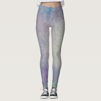 Leggings Guêtres lilas et pourpres de conception unique