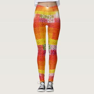 Leggings Guêtres lumineuses colorées de boule de disco dans