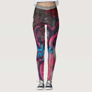 Leggings Guêtres multicolores de graffiti