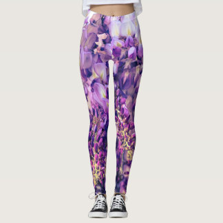Leggings Guêtres pourpres de glycines