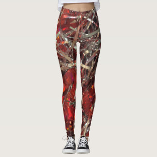 Leggings Guêtres rouges