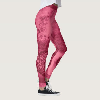 Leggings Guêtres rouges de coeur