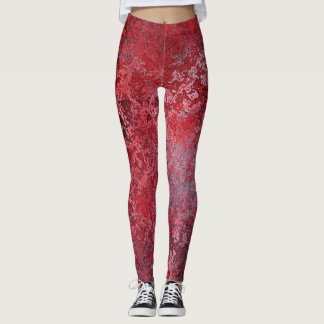 Leggings Guêtres rouges de Spackled