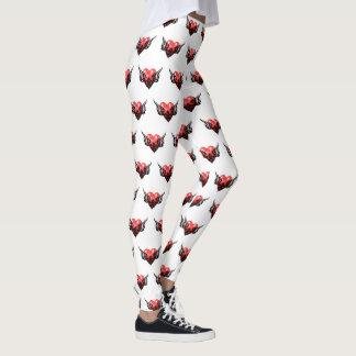 Leggings Guêtres tribales d'art de tatouage de coeur