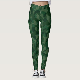 Leggings Guêtres vertes de camouflage