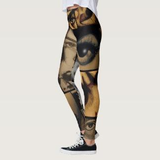 Leggings Hip hop de collage de dessin