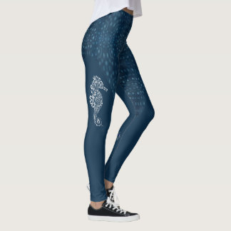 Leggings Hippocampe tribal avec le motif de requin de