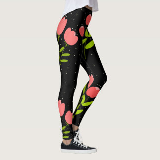 Leggings impression florale