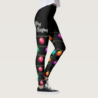 Leggings Joyeux Noël, ornement d'aquarelle