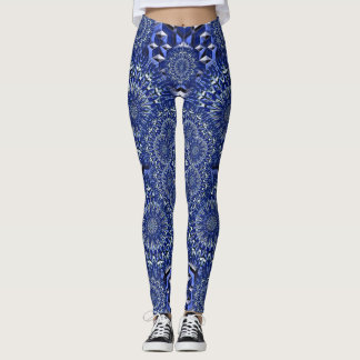 Leggings Kaléidoscope bleu
