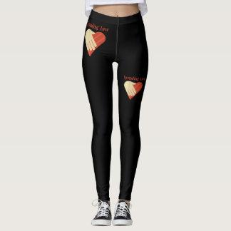 Leggings La jambe de femmes halète l'amour de propagation