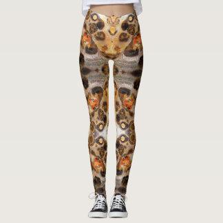 Leggings La photo de fantaisie de roche de peau de léopard