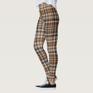 Leggings L'automne brunit le plaid