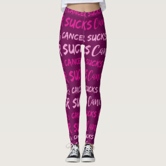Leggings Le Cancer suce (la conscience de cancer du sein)
