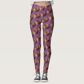 Leggings Le chocolat de pantalon de yoga arrosent le motif