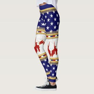 Leggings Le drapeau de l'Amérique colore le pantalon 2 de