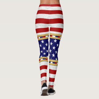 Leggings Le drapeau de l'Amérique colore le pantalon de