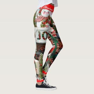 Leggings Les guêtres de Noël personnalisent l'ont laissé