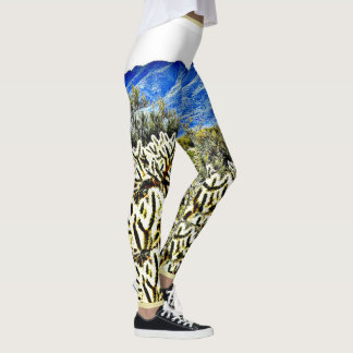 Leggings Les guêtres des femmes de cactus de Cholla de