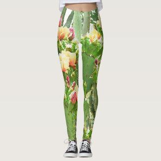 Leggings Les guêtres des femmes - fleurs de figue de