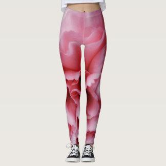 Close-up Pink Carnation print women's leggings