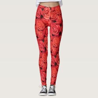 Leggings Les roses sont les guêtres rouges
