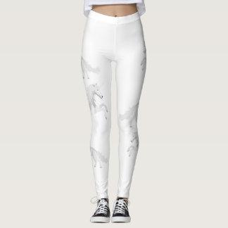Leggings Licorne de blanc d'illustration