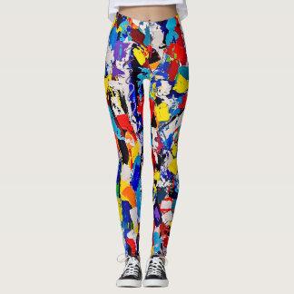 Leggings Limande colorée multicolore de peinture de motif