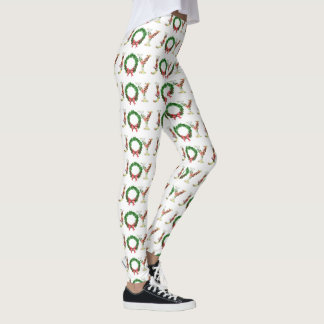 Leggings Manuscrit floral simple de fantaisie de joie de