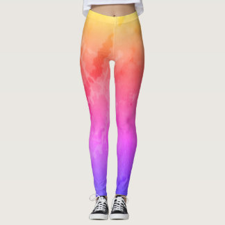 Leggings Marbre d'arc-en-ciel
