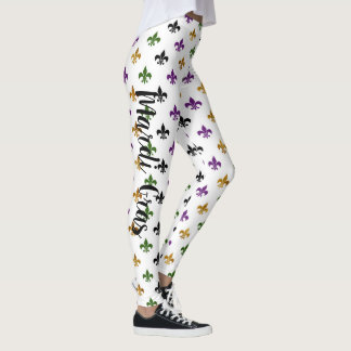 Leggings Mardi gras à la mode Fleur De Lis