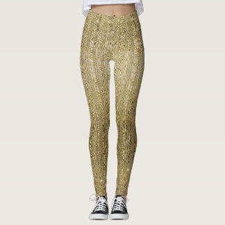 Leggings Miroitement fascinant d'or