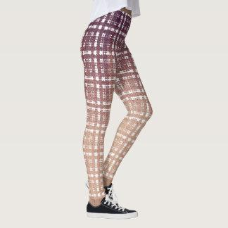 Leggings Mode rose de très bon goût de plaid