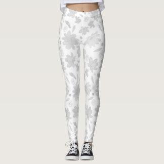 Leggings Modèle floral gris