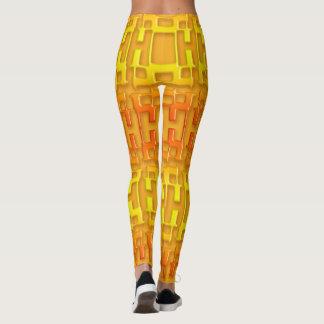 Leggings Modèle orange géométrique ethnique
