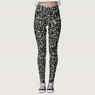 Leggings Motif à la mode gris blanc noir