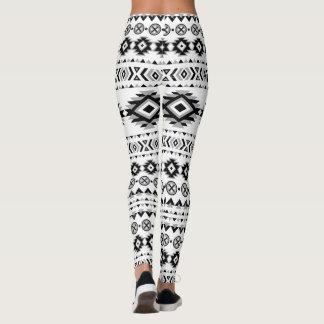 Leggings Motif aztèque noir et blanc
