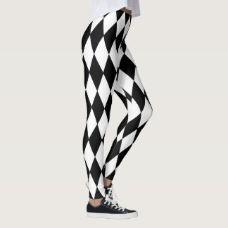 Leggings Motif de harlequin de style de mardi gras