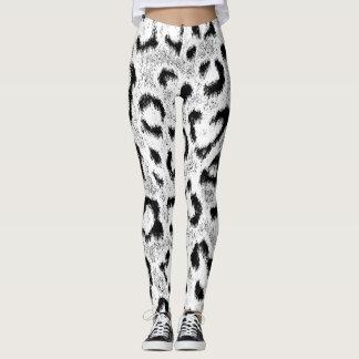 Leggings Motif de peau de fourrure de léopard