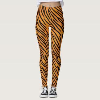 Leggings Motif de rayure de tigre