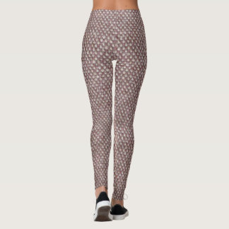 Leggings Motif en arête de poisson de Brown