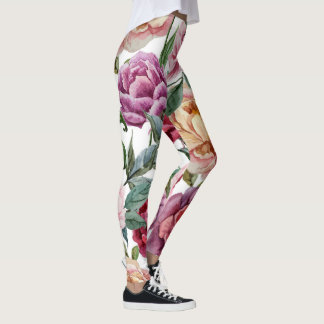 Leggings Motif floral coloré