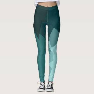 Leggings Motif géométrique moderne de turquoise