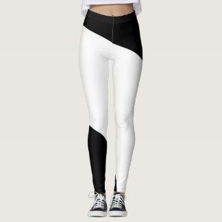 Leggings Motif géométrique noir et blanc