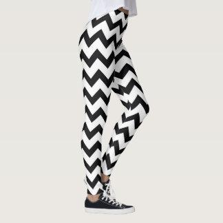 Leggings Motif noir et blanc de Chevron de yoga mignon
