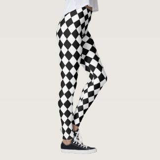 Leggings Motif noir et blanc de diamant de yoga mignon